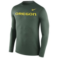 Oregon Ducks Nike Stadium Dri-FIT Touch Long Sleeves Top Green