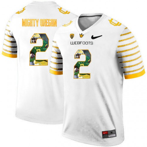 best authentic 019ce e3182 Oregon Ducks Spring Game Mighty Oregon #2 Webfoot White ...