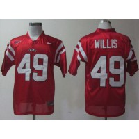 Rebels #49 Patrick Willis Red Stitched NCAA Jersey