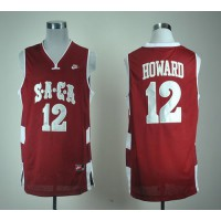 SACA #12 Dwight Howard Red Basketball Stitched NCAA Jersey