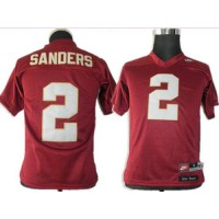 Seminoles #2 Deion Sanders Red Stitched Youth NCAA Jersey