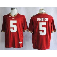 Seminoles #5 Jameis Winston Red Stitched NCAA Jersey
