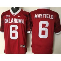 Sooners #6 Baker Mayfield Red New XII Stitched NCAA Jersey