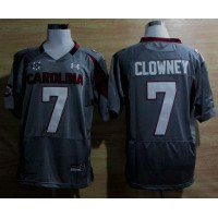 South Carolina #7 Javedeon Clowney Grey SEC Patch Stitched NCAA Jersey