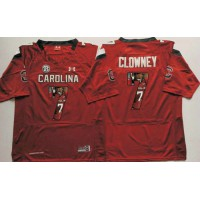 South Carolina Fighting Gamecocks #7 Jadeveon Clowney Red Player Fashion Stitched NCAA Jersey