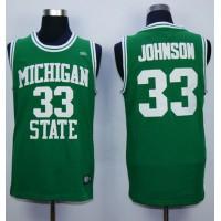 Spartans #33 Magic Johnson Green Stitched Hardwood Legends Basketball NCAA Jersey