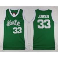 Spartans #33 Magic Johnson Green Throwback Basketball Stitched NCAA Jersey