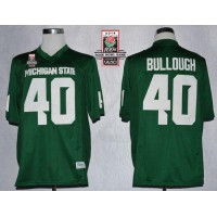 Spartans #40 Max Bullough Green 2014 Rose Bowl Patch Stitched NCAA Jersey