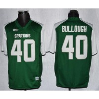 Spartans #40 Max Bullough GreenWhite Stitched NCAA Jersey