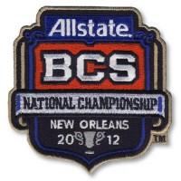 Stitched 2012 Allstate BCS National Championship Game Jersey Patch (LSU vs Alabama)