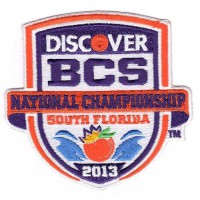 Stitched 2013 Discover BCS National Championship Game Jersey Patch (Notre Dame vs Alabama)
