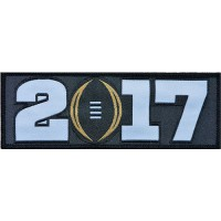 Stitched 2017 College Football Playoff Bowl Patch Black