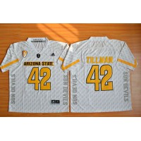 Sun Devils #42 Pat Tillman New White Stitched NCAA Jersey