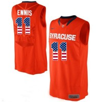 Syracuse Orange #11 Tyler Ennis Orange Basketball Jersey