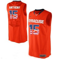 Syracuse Orange #15 Camerlo Anthony Orange Basketball Jersey