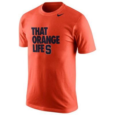 Syracuse Orange Nike Basketball Mascot Life T-Shirt Orange