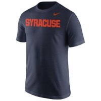 Syracuse Orange Nike Wordmark T-Shirt Navy Blue