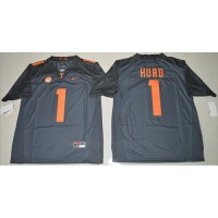 Tennessee Volunteers #1 Jalen Hurd Grey Limited Stitched NCAA Jersey