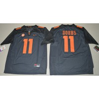 Tennessee Volunteers #11 Joshua Dobbs Grey Limited Stitched NCAA Jersey