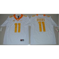 Tennessee Volunteers #11 Joshua Dobbs White Stitched NCAA Jersey