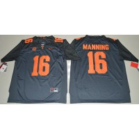 Tennessee Volunteers #16 Peyton Manning Grey 2016 Stitched NCAA Jersey