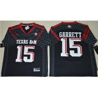 Texas A&M Aggies #15 Myles Garrett Black New SEC Patch Stitched NCAA Jersey