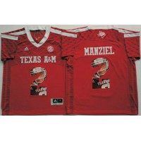Texas A&M Aggies #2 Johnny Manziel Red Player Fashion Stitched NCAA Jersey