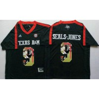 Texas A&M Aggies #9 Ricky Seals-Jones Black Player Fashion Stitched NCAA Jersey