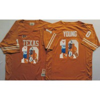Texas Longhorns #10 Vince Young Orange Player Fashion Stitched NCAA Jersey
