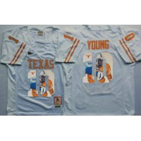 Texas Longhorns #10 Vince Young White Player Fashion Stitched NCAA Jersey