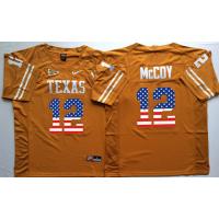 Texas Longhorns #12 Colt McCoy Orange USA Flag College Jersey