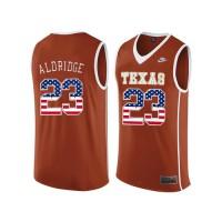 Texas Longhorns #23 LaMarcus Aldridge Orange College Basketball Jersey
