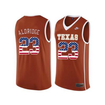 buy popular 06e36 3d0f4 Texas Longhorns #23 LaMarcus Aldridge Orange College ...
