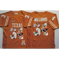 Texas Longhorns #34 Ricky Williams Orange Player Fashion Stitched NCAA Jersey