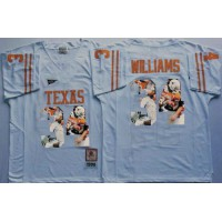 Texas Longhorns #34 Ricky Williams White Player Fashion Stitched NCAA Jersey