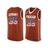 Texas Longhorns #35 Kevin Durant Orange College Basketball Jersey