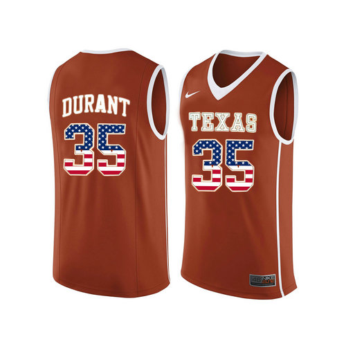 68200094e529 Texas Longhorns  35 Kevin Durant Orange College Basketball Jersey