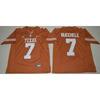Texas Longhorns #7 Shane Buechele Orange Limited Stitched NCAA Jersey