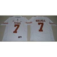 Texas Longhorns #7 Shane Buechele White Limited Stitched NCAA Jersey