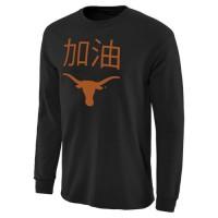 Texas Longhorns China Game Long Sleeves T-Shirt Black