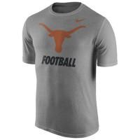 Texas Longhorns Nike 2015 Sideline Dri-FIT Legend Logo T-Shirt Ash