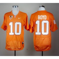 Tigers #10 Tajh Boyd Orange Pro Combat 2016 College Football Playoff National Championship Patch Stitched NCAA Jersey