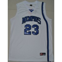 Tigers #23 Derrick Rose White Basketball Stitched NCAA Jersey