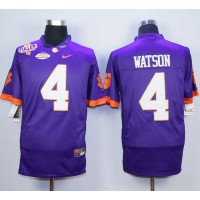 Tigers #4 Deshaun Watson Purple Limited Stitched NCAA Jersey