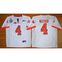 Tigers #4 Deshaun Watson White 2016 National Championship Stitched NCAA Jersey