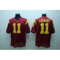 Trojans #11 Matt Leinart Red Stitched NCAA Jersey