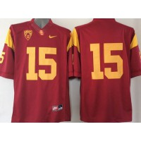 Trojans #15 Nelson Agholor Red PAC-12 C Patch Stitched NCAA Jersey