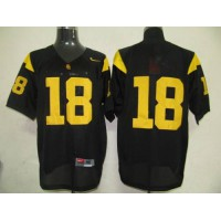 Trojans #18 Ronald Johnson Black Stitched NCAA Jersey
