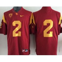 Trojans #2 Robert Woods Red Stitched NCAA Jersey