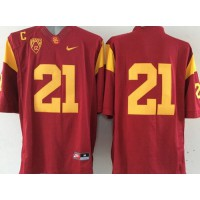 Trojans #21 Su'a Cravens Red Limited Stitched NCAA Jersey